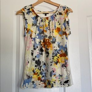 Floral sleeveless top from The Limited